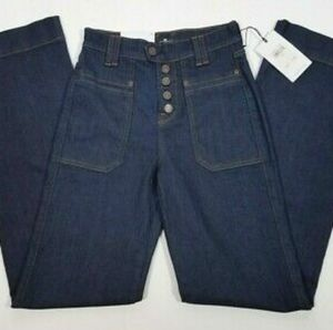NWT🆕 7FAMK ALEXA Exposed Button Fly Jeans W30 L34
